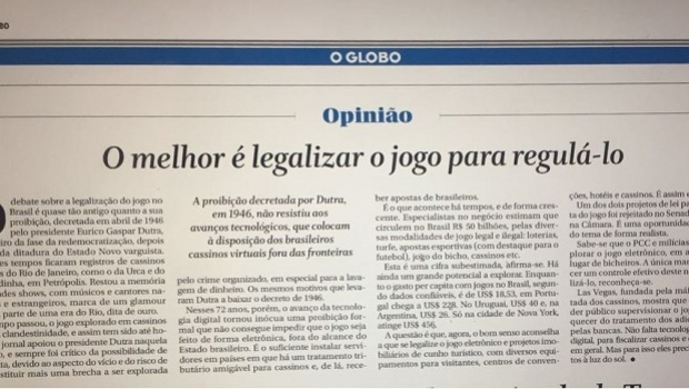 O Globo, Gaming and a paradigm shift