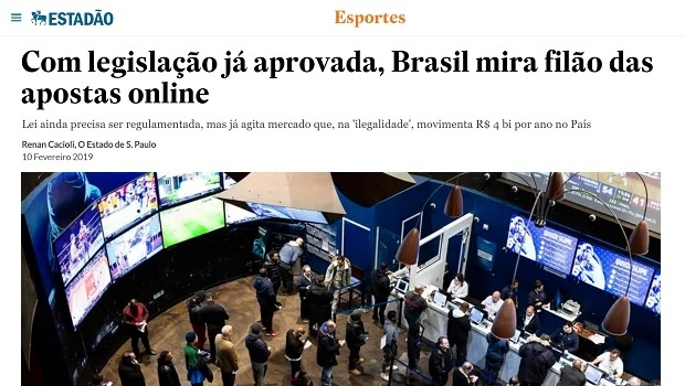 With legislation already approved, Brazil looks at online betting