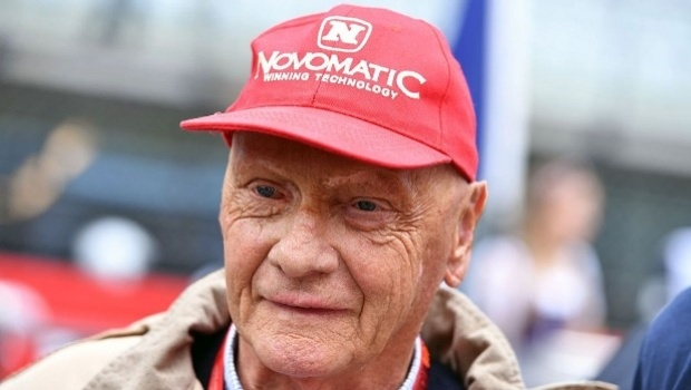 NOVOMATIC mourns Niki Lauda, three-time F1 champion and brand ambassador since 2014