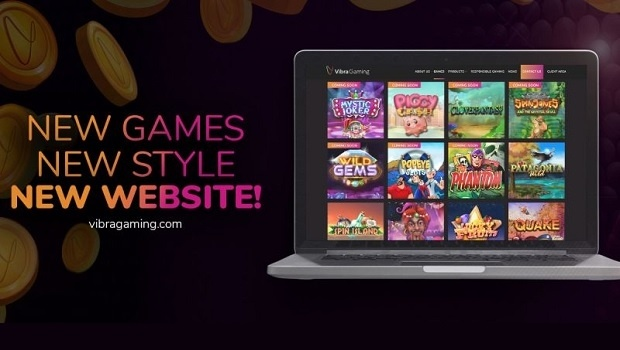 Vibra Gaming presents its redesigned website with more games and modern style