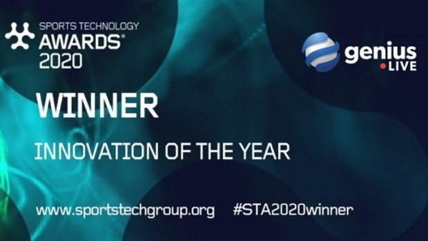 GeniusLive wins 'Innovation of the Year' at the Sports Technology Awards