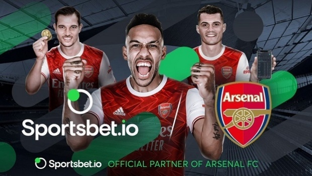 After its success with Flamengo, Sportsbet.io is now new sponsor of England's Arsenal